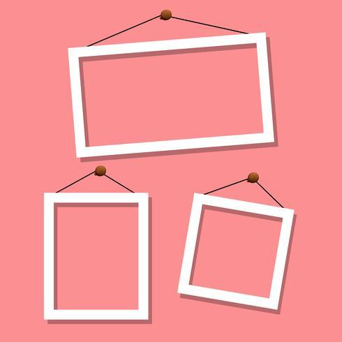 Set Fram auf rosa Hintergrund
