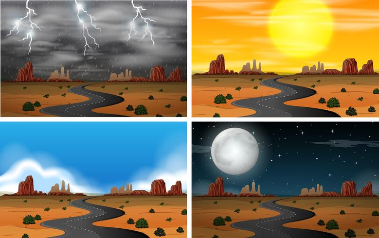 Different Sky Scenery Sets vector