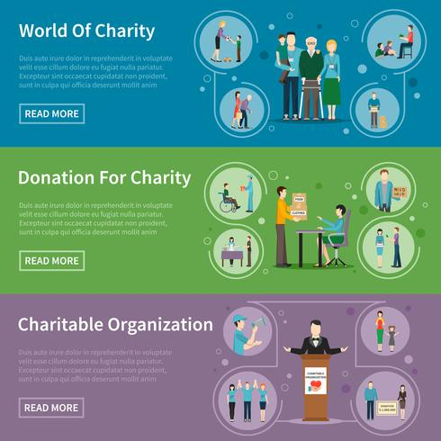 Charity Donation Banners vector