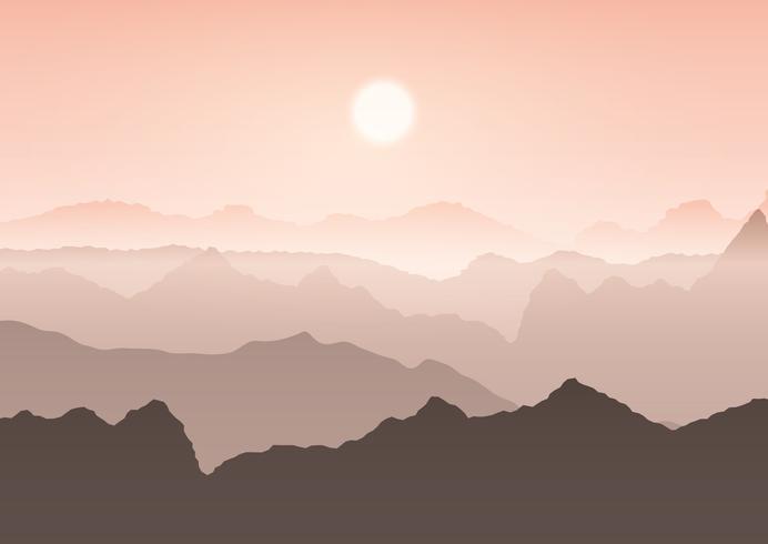 Paisaje de montaña vector