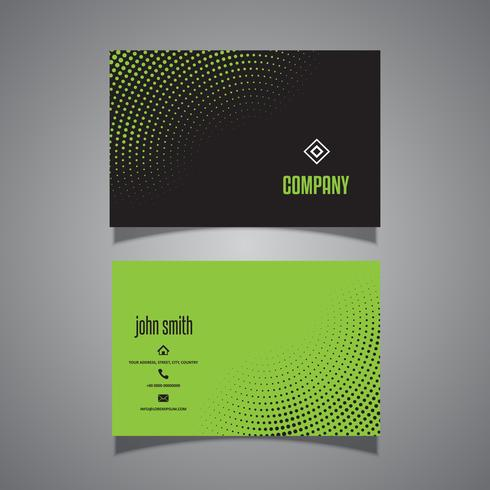 Business card with halftone dots design
