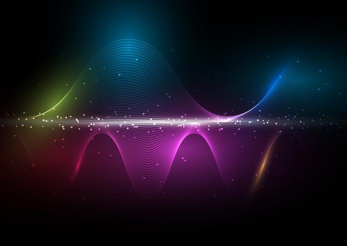 Fondo de ondas abstractas vector