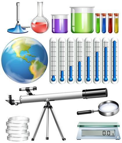Conjunto de herramientas de ciencia. vector