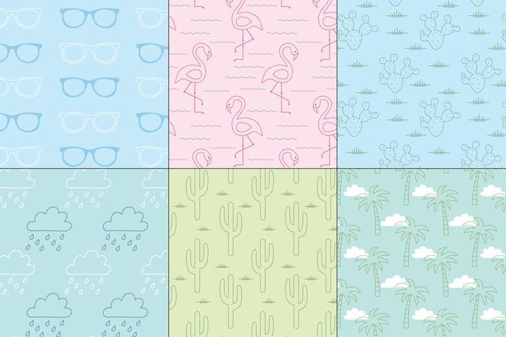seamless pastel summer patterns