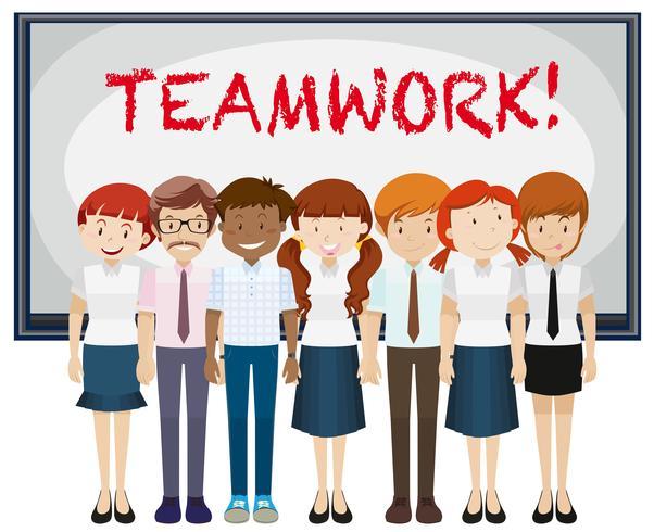 Word teamwork på tavlan