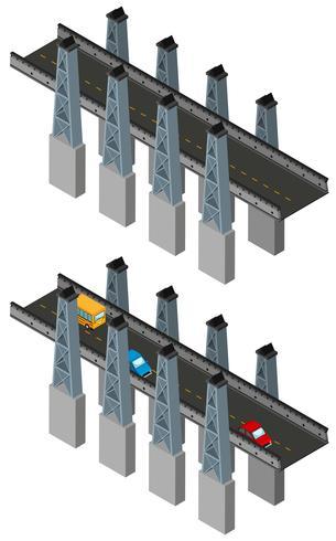 Diseño de puentes en diseño 3D. vector