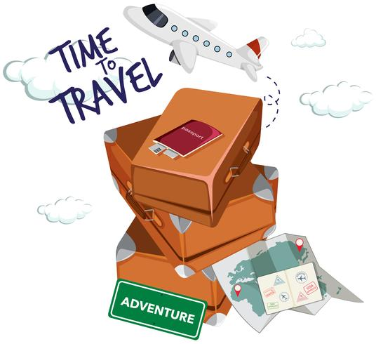 Time to travel icon vector
