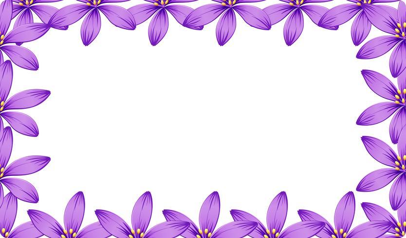Un marco de flor morada vector