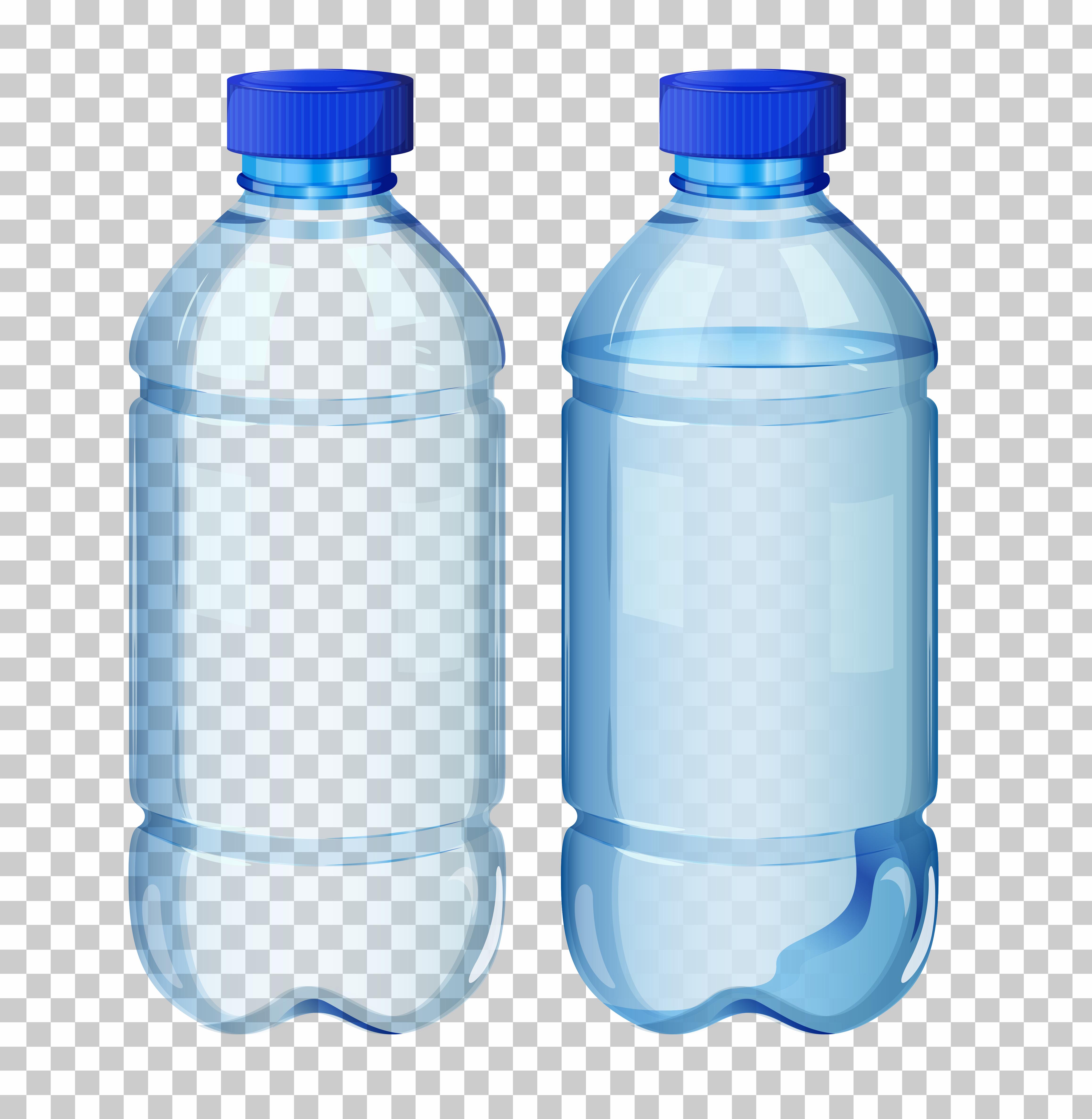 Set of transparent water bottle - Download Free Vectors ... Water Bottle Clip Art Svg