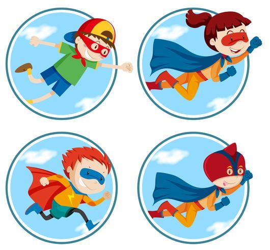 Set of super hero vector