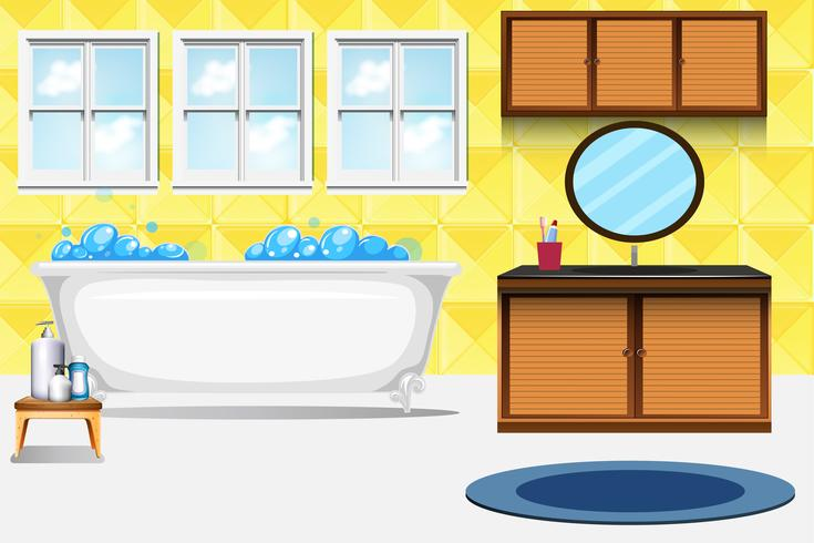 Un fondo de baño interior.
