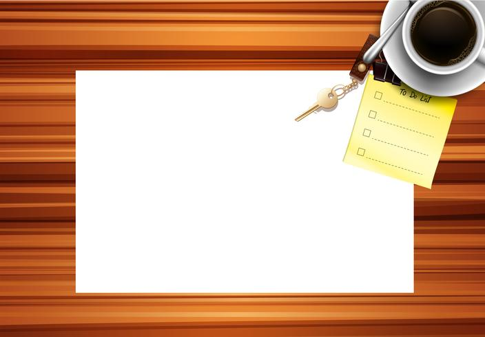Fondo de escritorio de papel en blanco vector