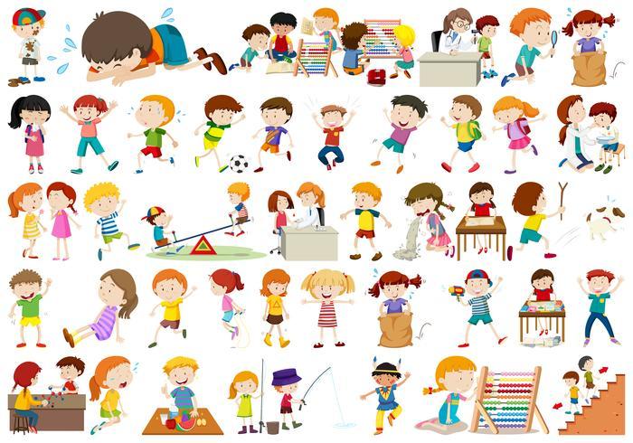 Conjunto de caracteres de los niños