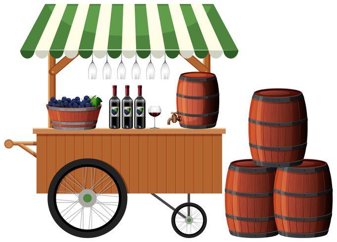 A wine shop stall