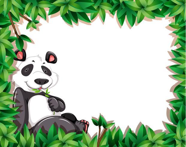Un panda en el marco de la naturaleza. vector
