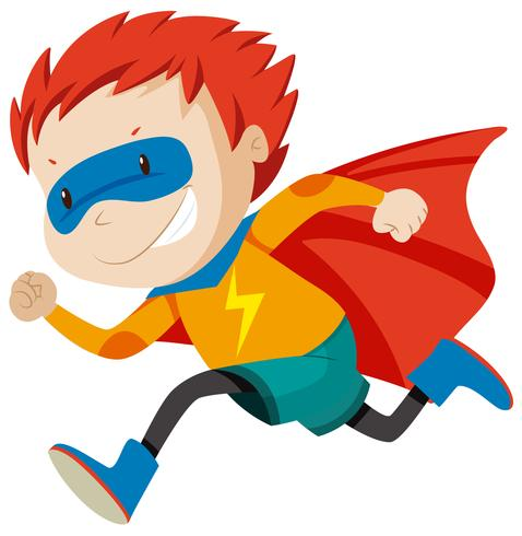 Een super held personage vector