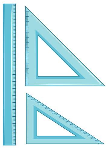 Conjunto de régua de geometria vetor