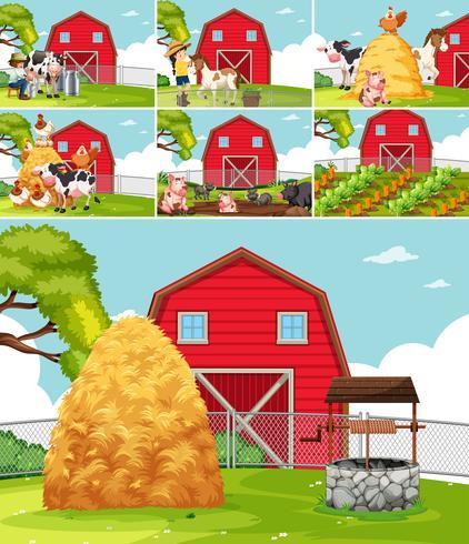 Set di paesaggi agricoli