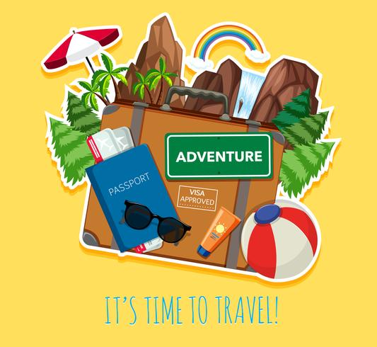 Travel object logo template