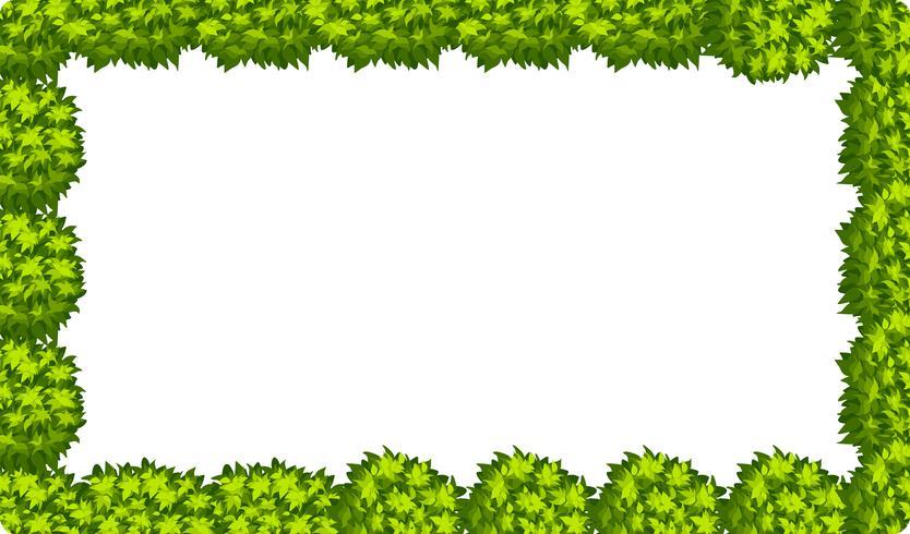 Natuurlijke bladgrensscène