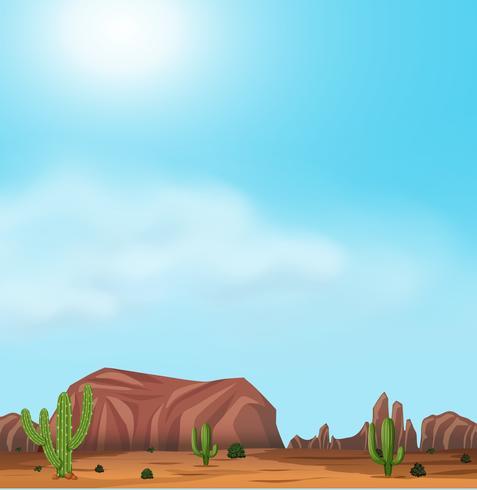 Uluru y el desierto en un día soleado