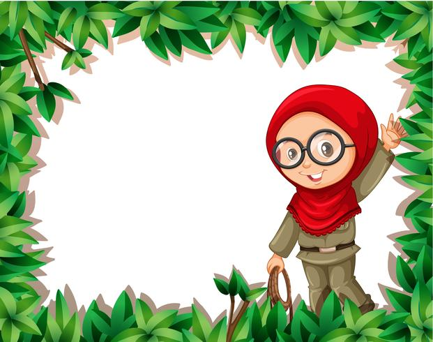 Una exploradora musulmana en el marco de la naturaleza