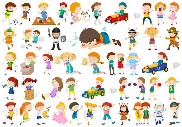 Groot aantal verschillende kinderen