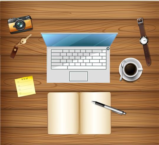 Draufsicht der Arbeitsbereichstabelle