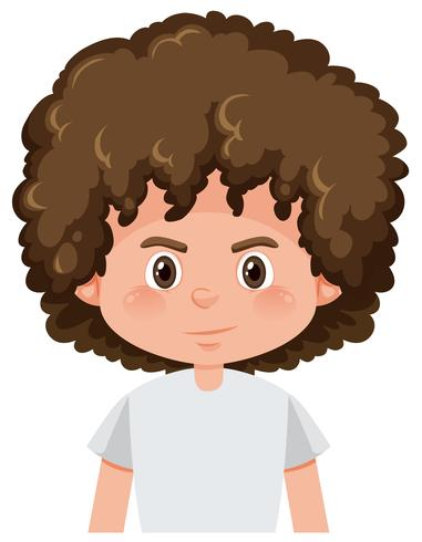 A brunette boy curly hairstyle