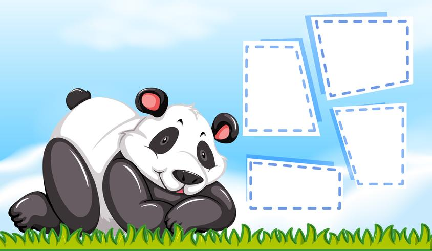 Panda op lege sjabloon