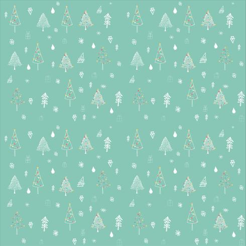 Modèle sans couture de contour arbre de Noël
