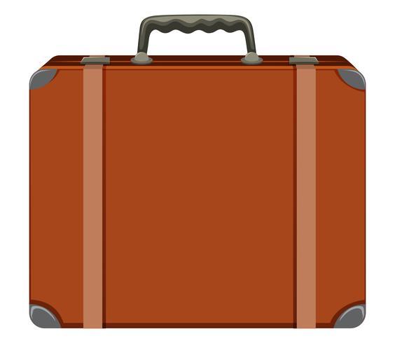 En vintage resväska på vit bakgrund