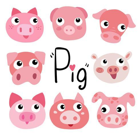 Schwein-Charakter-Vektor-Design
