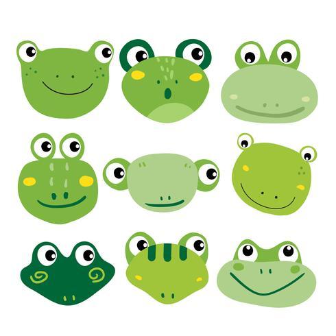 Frosch-Charakter-Vektor-Design vektor
