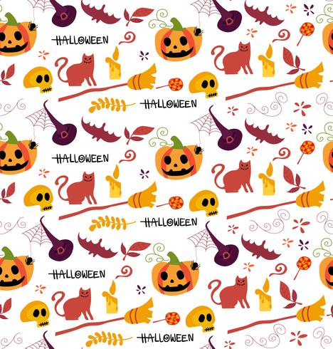 cute Halloween pattern seamless for background