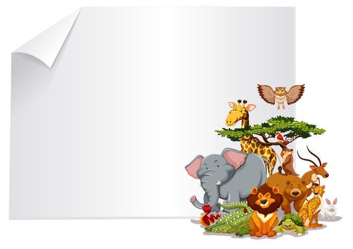 Groupe de cadre de papier animal