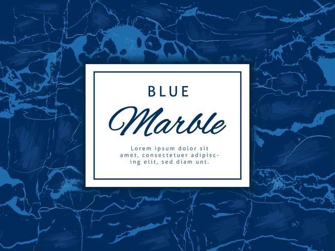 Djupblå marmor vektor bakgrund med banner