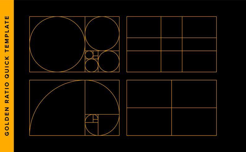 Modèle de conception de vecteur de ratio d'or