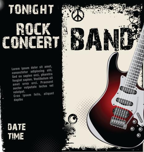 Fond de concert rock grunge vecteur