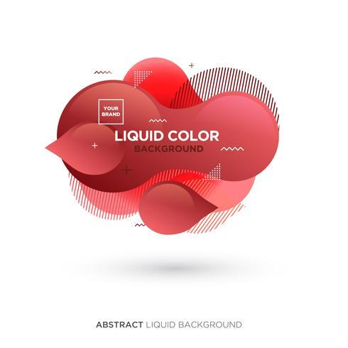 Banner de color rojo líquido abstracto vector