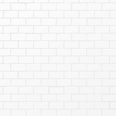 Fundo de vetor de parede de tijolo branco