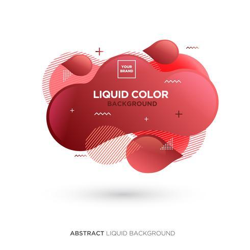 Banner de cor vermelha líquida abstrata