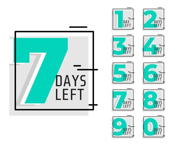 antal dagar kvar reklam trendig banner