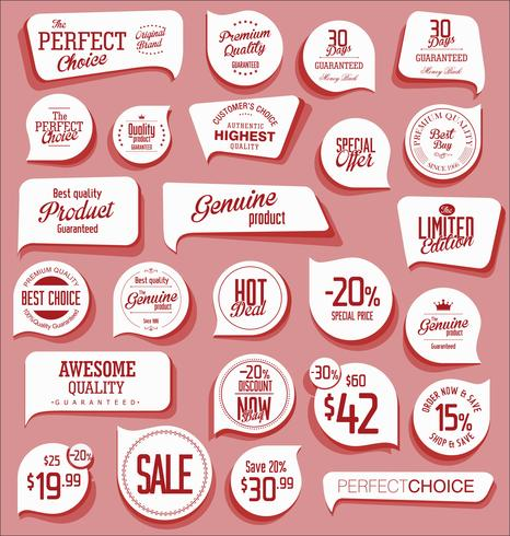Moderna märken klistermärken och etiketter samling