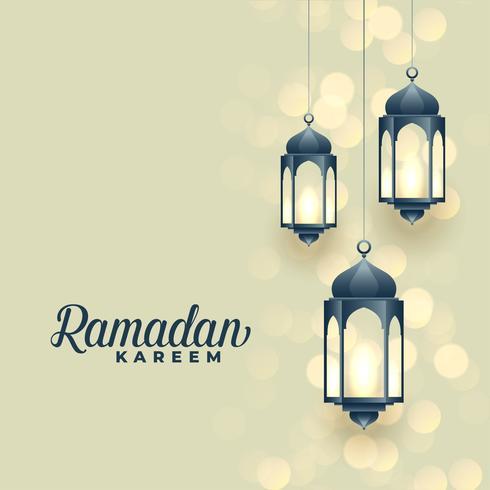 hängande islamiska lampor ramadan kareem festival design