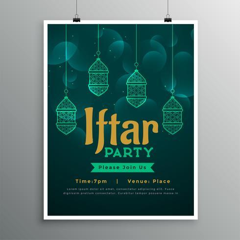 iftar party initation kort design