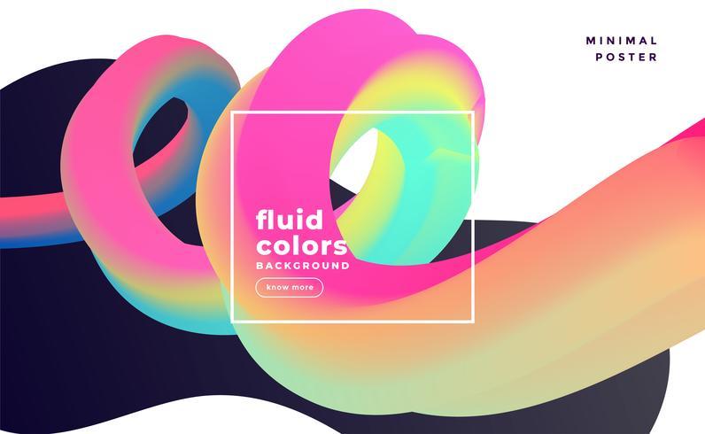 färgstarka 3d flytande loop abstrakt bakgrund