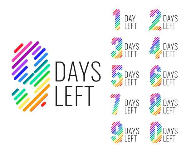 kampanj antal dagar kvar nedräkning banner