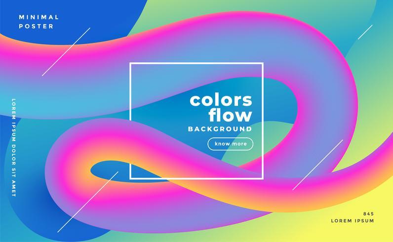 färgstarka 3d flödesvåg trendiga bakgrund
