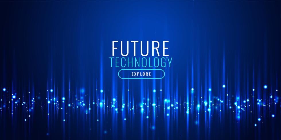 futuristische technologie deeltjes banner ontwerp